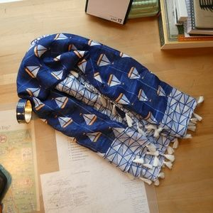 Navy Bracelet and Scarf Combination